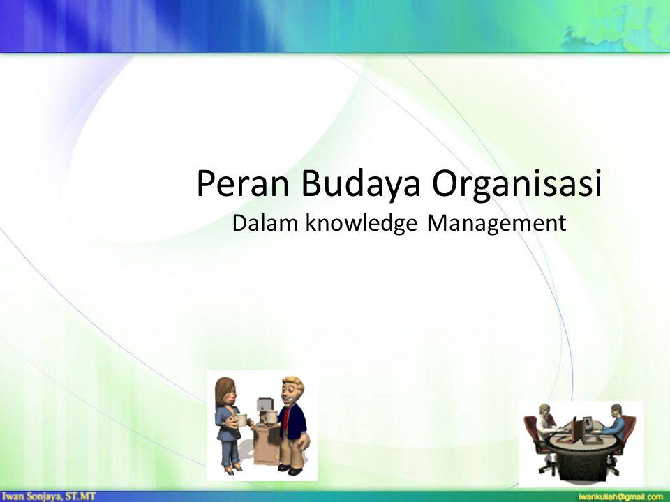 Peran Budaya Organisasi Dalam knowledge Management