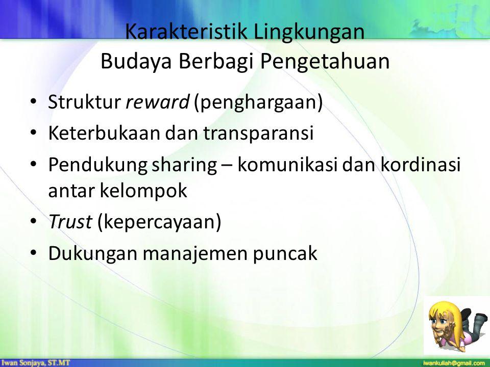 Karakteristik Lingkungan Budaya Berbagi Pengetahuan