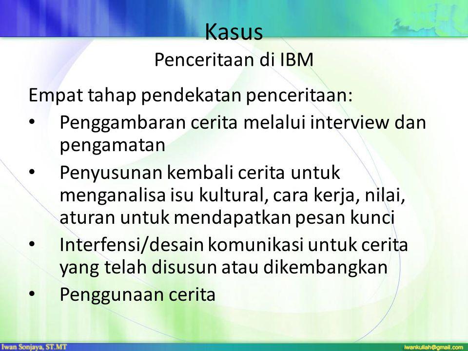 Kasus Penceritaan di IBM