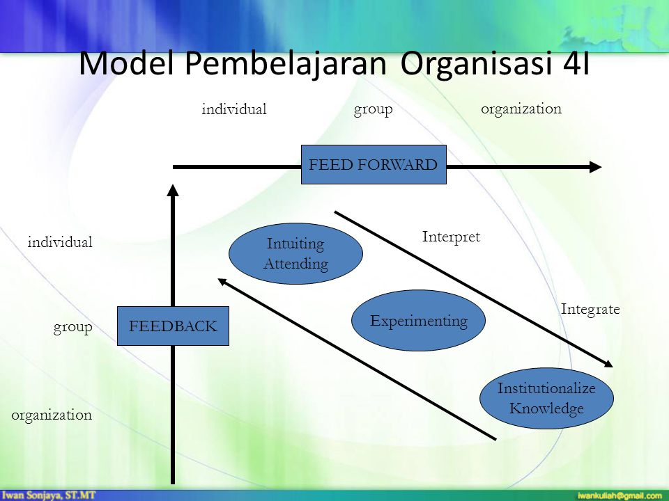 Model Pembelajaran Organisasi 4I