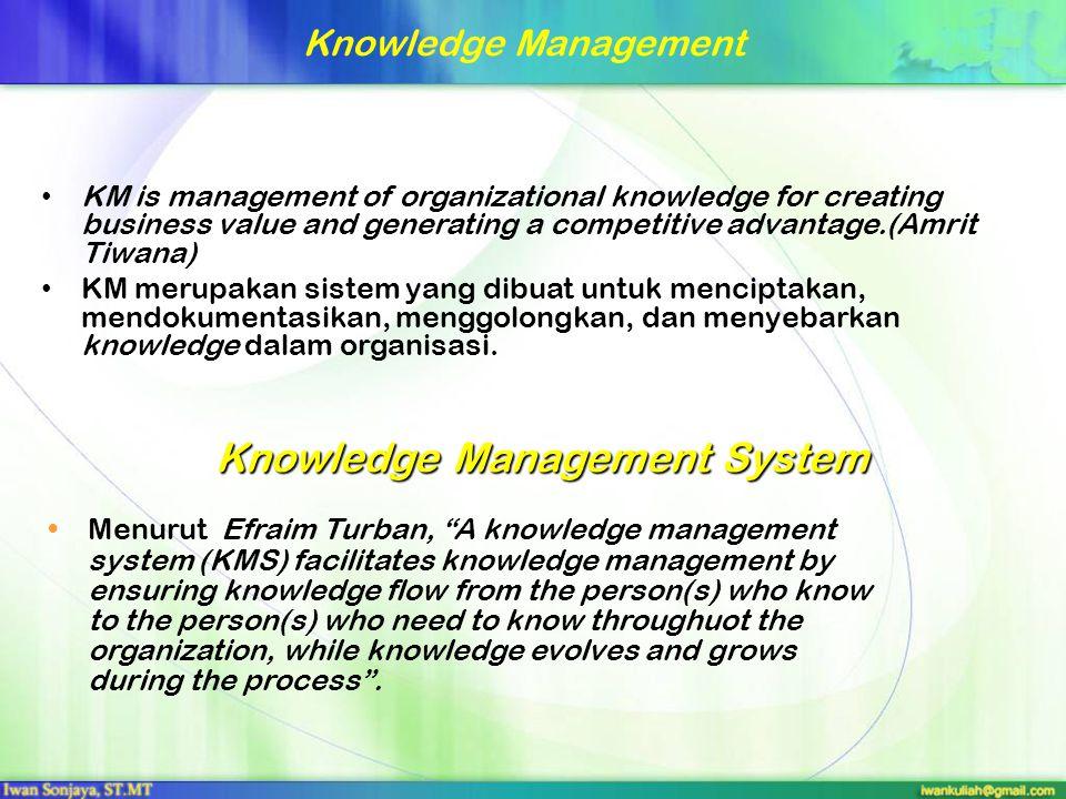 Knowledge Spiral Tacit knowledge adalah sesuatu yang kita ketahui dan alami, namun sulit untuk diungkapkan secara jelas dan lengkap,