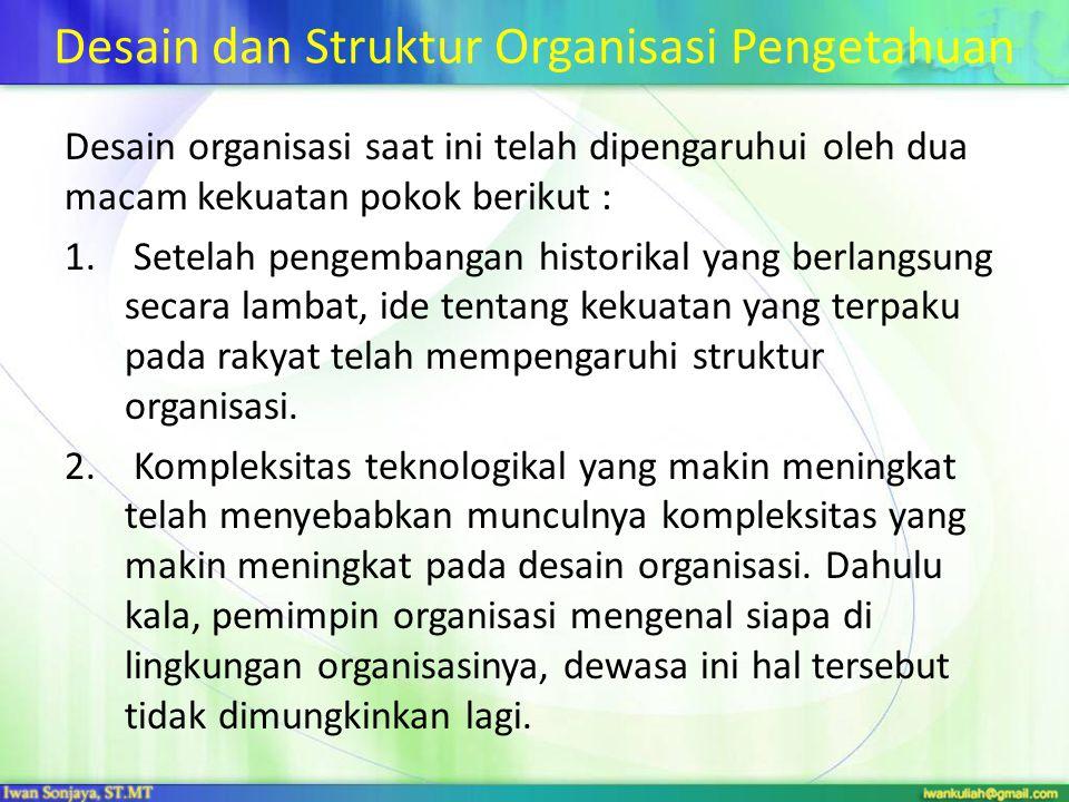Desain dan Struktur Organisasi Pengetahuan