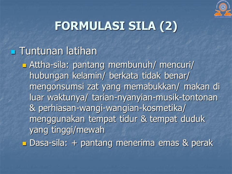FORMULASI SILA (2) Tuntunan latihan