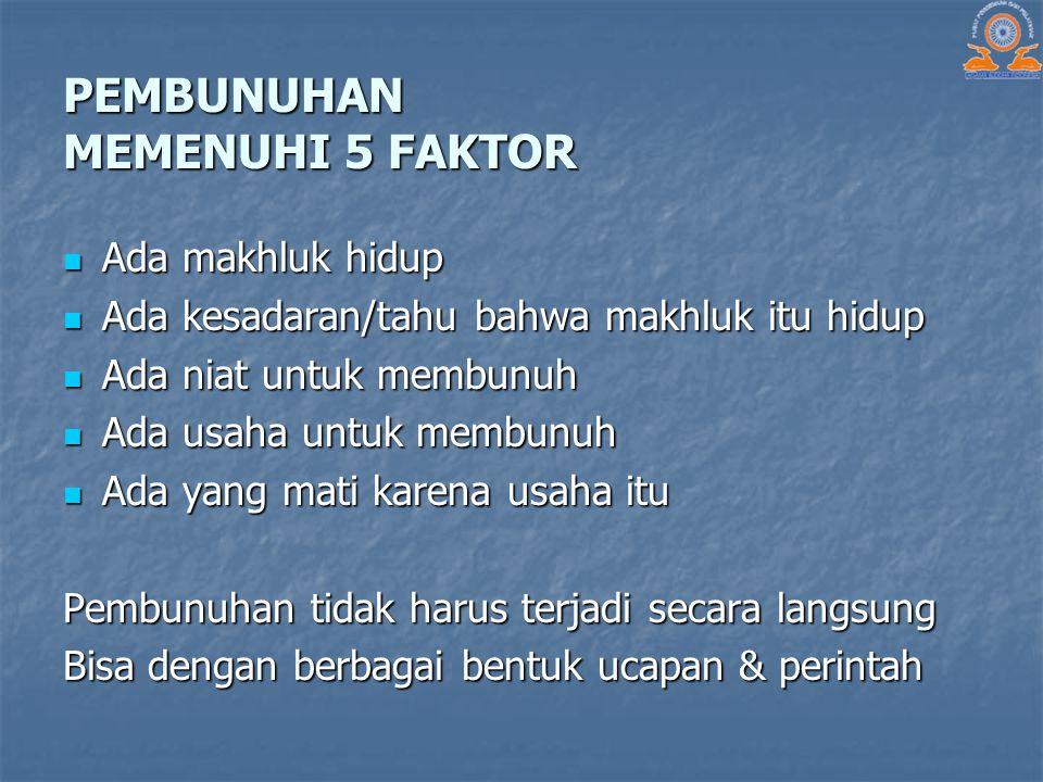 PEMBUNUHAN MEMENUHI 5 FAKTOR