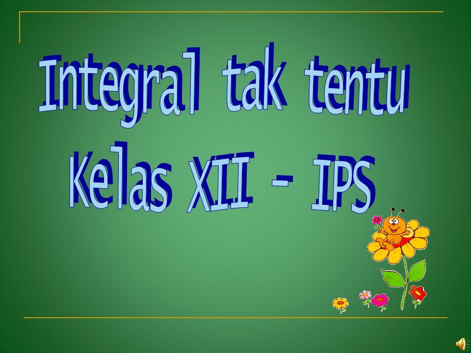 Integral tak tentu Kelas XII - IPS