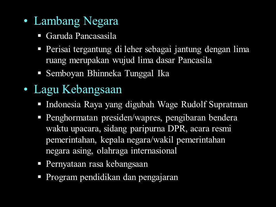 Lambang Negara Lagu Kebangsaan Garuda Pancasasila