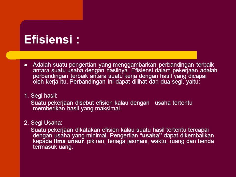 Efisiensi :