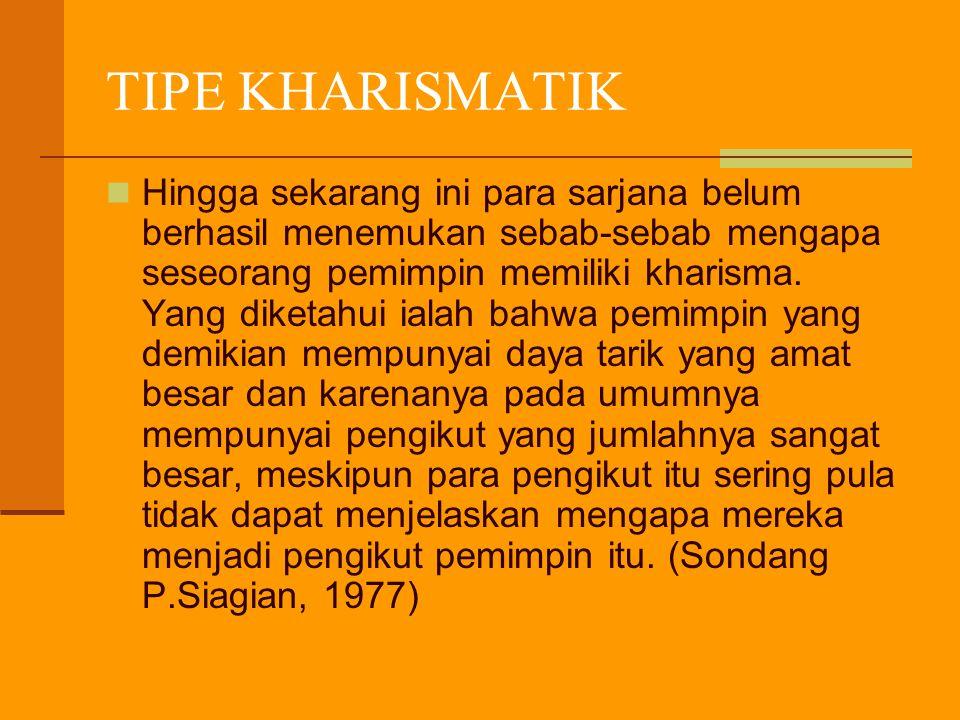 TIPE KHARISMATIK