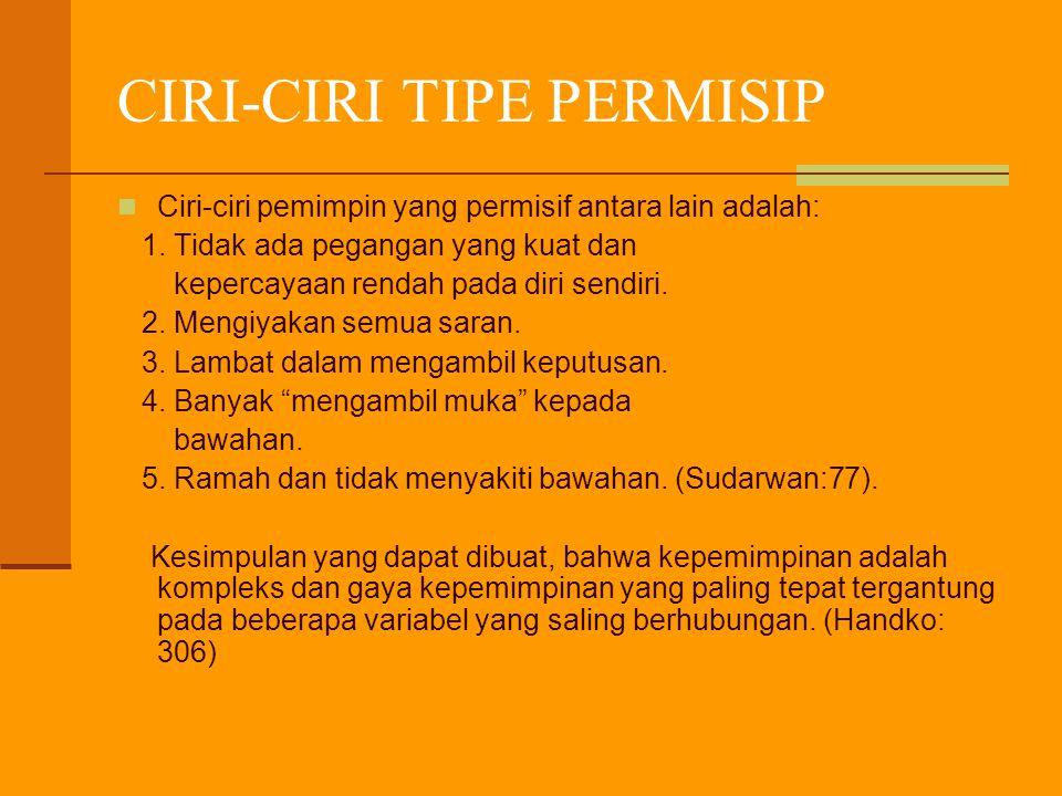 CIRI-CIRI TIPE PERMISIP
