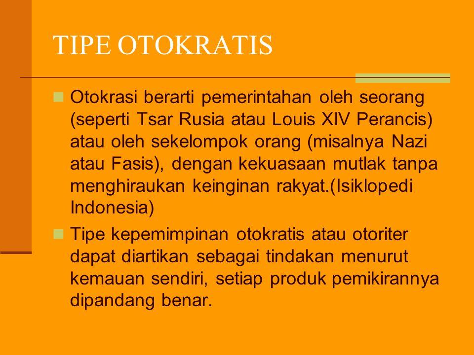 TIPE OTOKRATIS