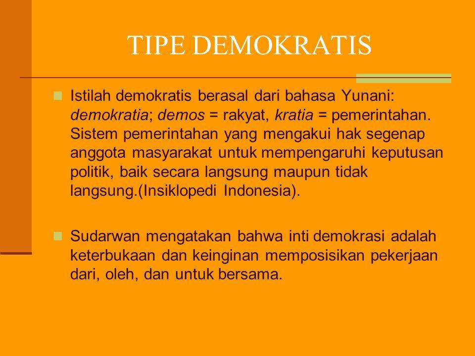 TIPE DEMOKRATIS