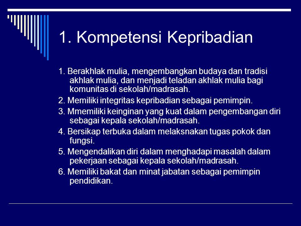 1. Kompetensi Kepribadian
