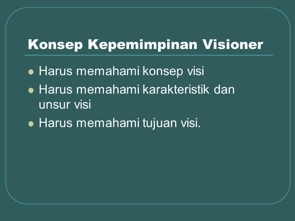 Konsep Kepemimpinan Visioner