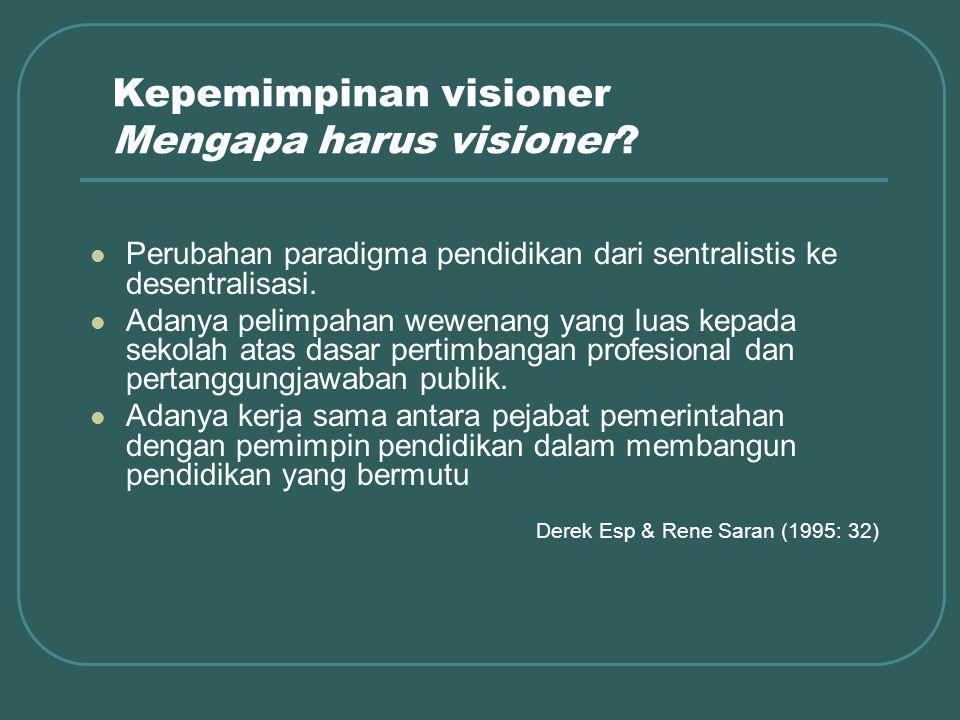 Kepemimpinan visioner Mengapa harus visioner