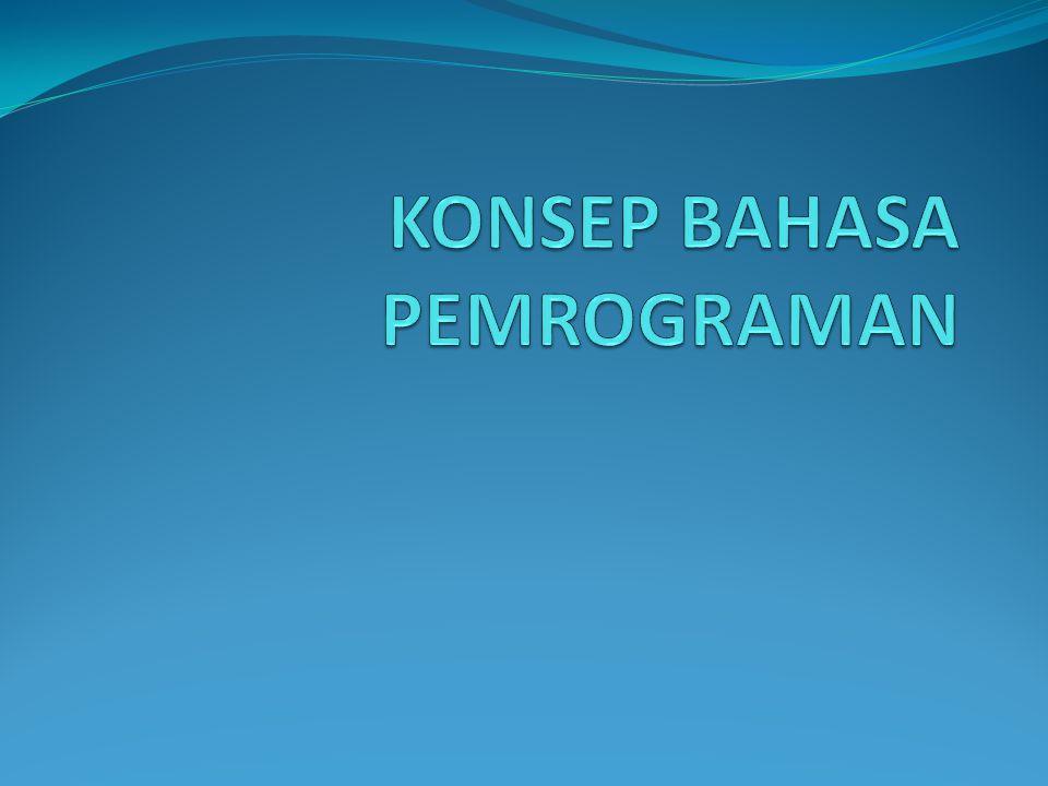 KONSEP BAHASA PEMROGRAMAN