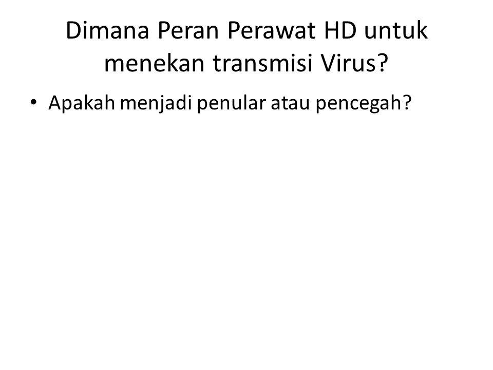 Dimana Peran Perawat HD untuk menekan transmisi Virus