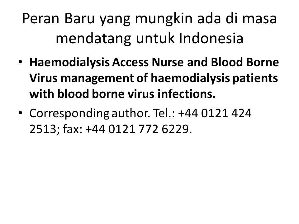 Peran Baru yang mungkin ada di masa mendatang untuk Indonesia