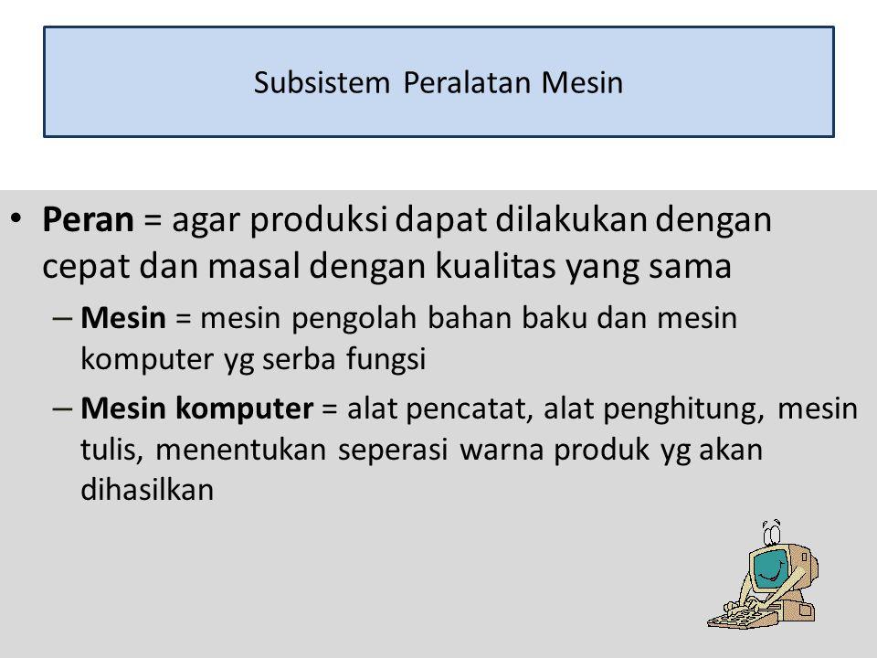 Subsistem Peralatan Mesin