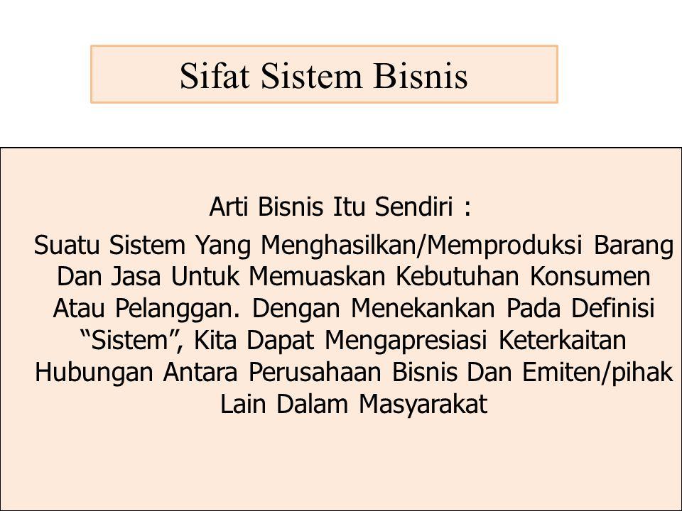 Sifat Sistem Bisnis