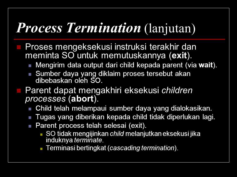 Process Termination (lanjutan)
