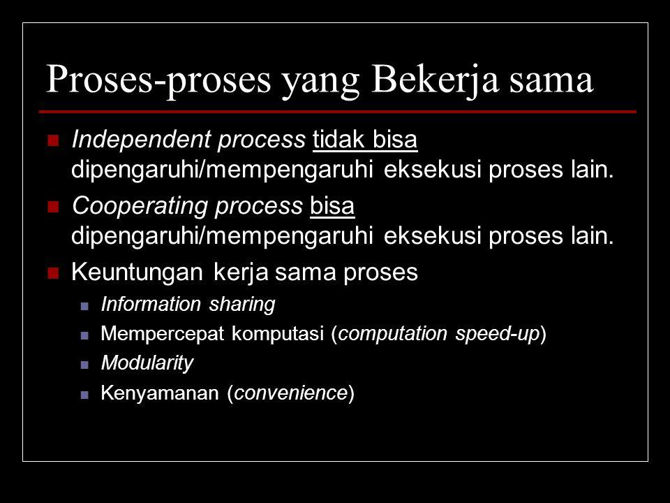 Proses-proses yang Bekerja sama
