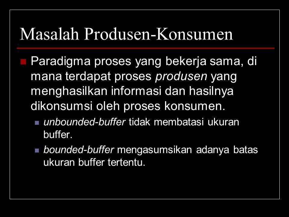 Masalah Produsen-Konsumen