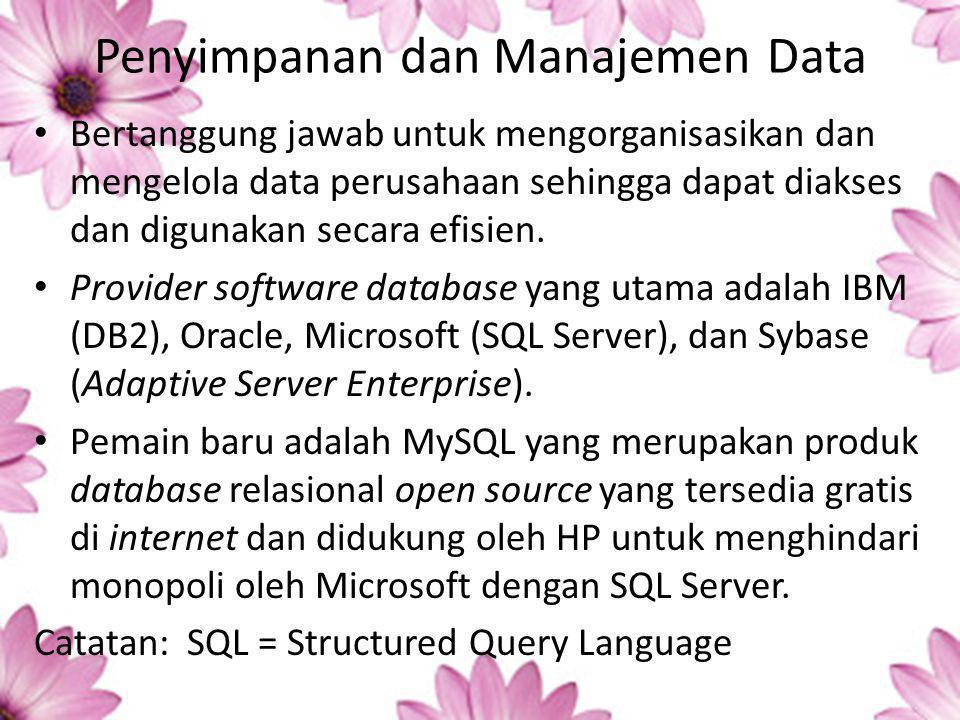 Penyimpanan dan Manajemen Data