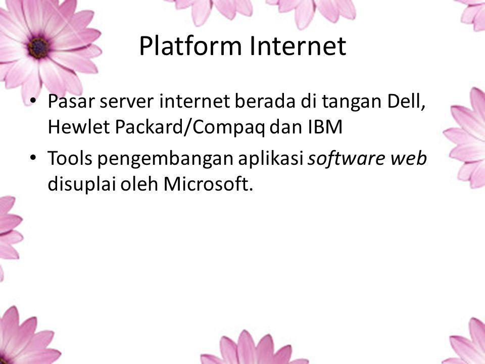 Platform Internet Pasar server internet berada di tangan Dell, Hewlet Packard/Compaq dan IBM.