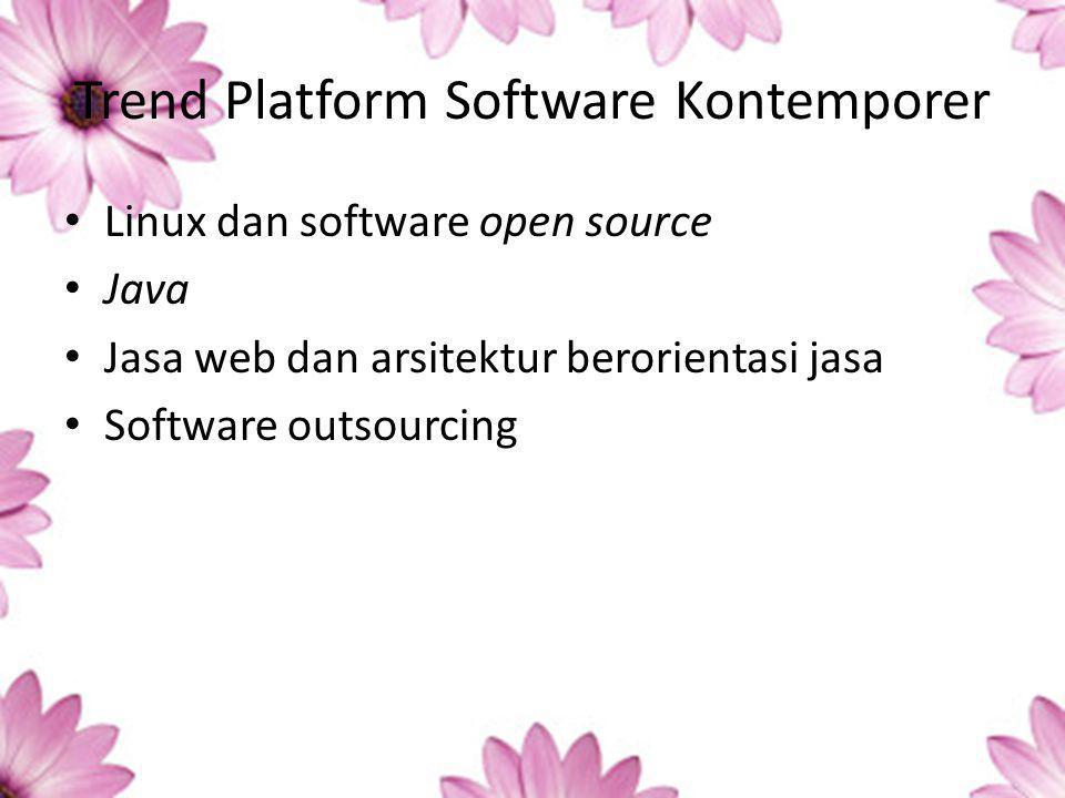 Trend Platform Software Kontemporer