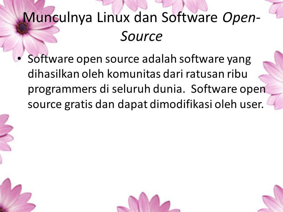 Munculnya Linux dan Software Open-Source