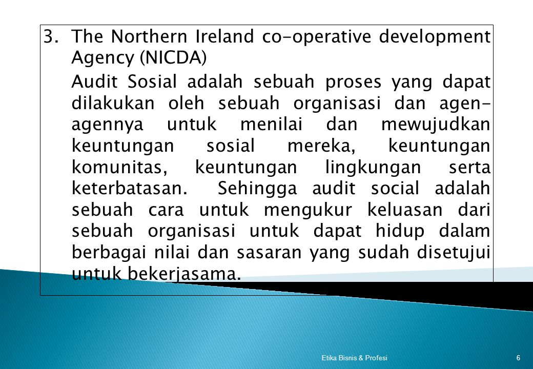 3. The Northern Ireland co-operative development Agency (NICDA)