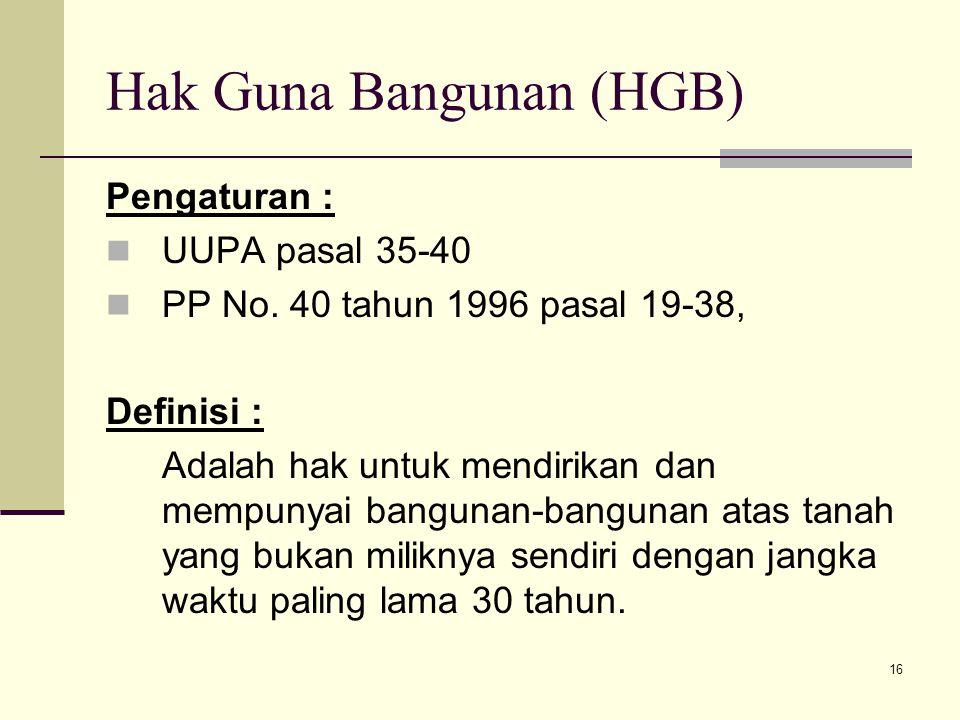 Hak Guna Bangunan (HGB)