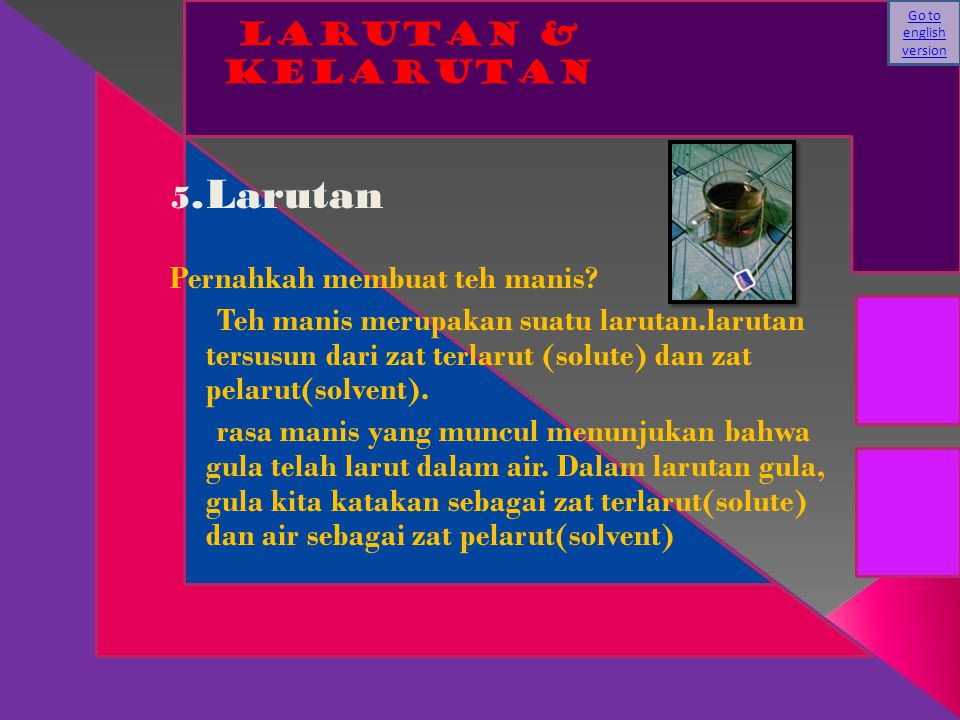 Go to english version Larutan & KELARUTAN.