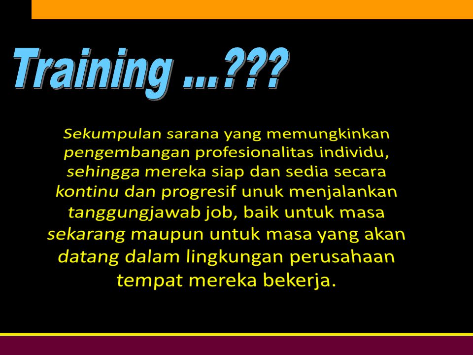 Training ...