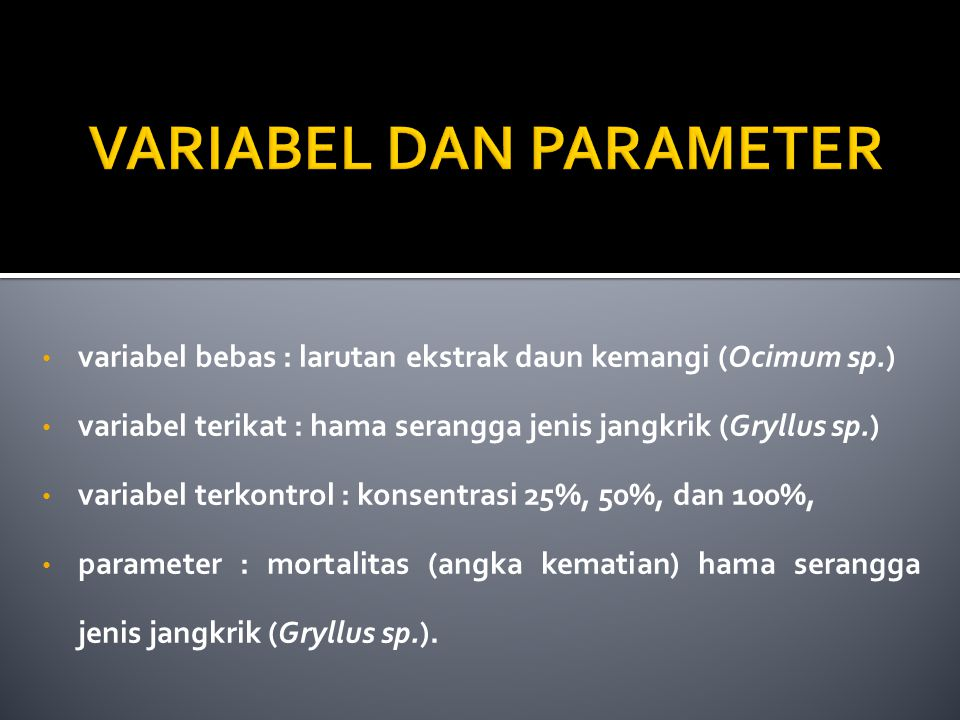 VARIABEL DAN PARAMETER