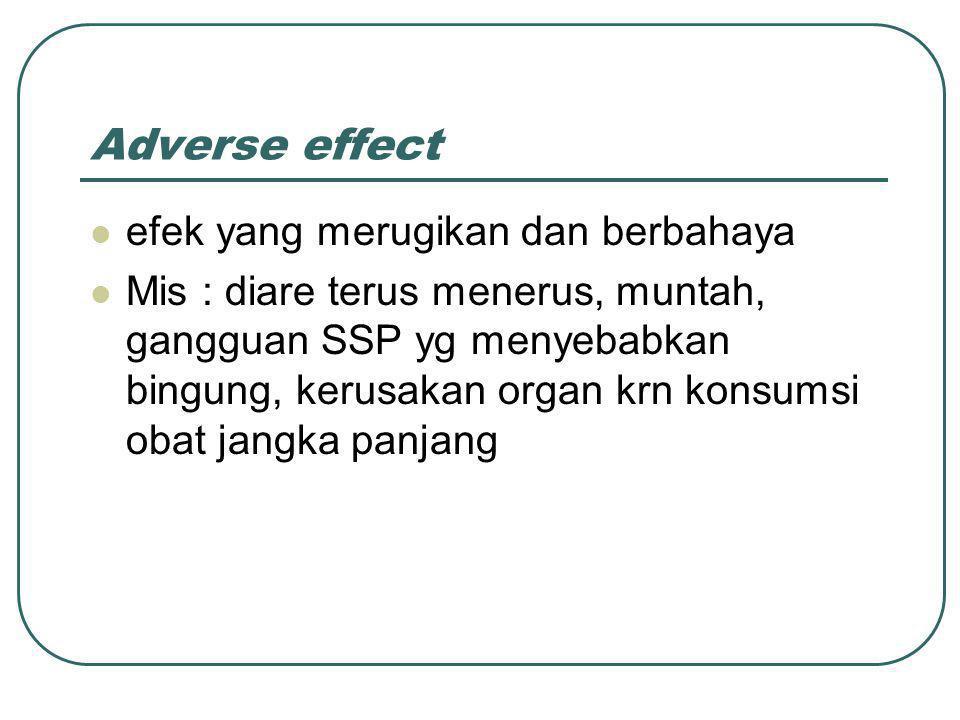 Adverse effect efek yang merugikan dan berbahaya