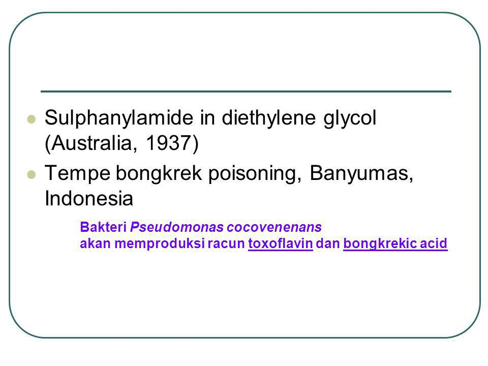 Sulphanylamide in diethylene glycol (Australia, 1937)