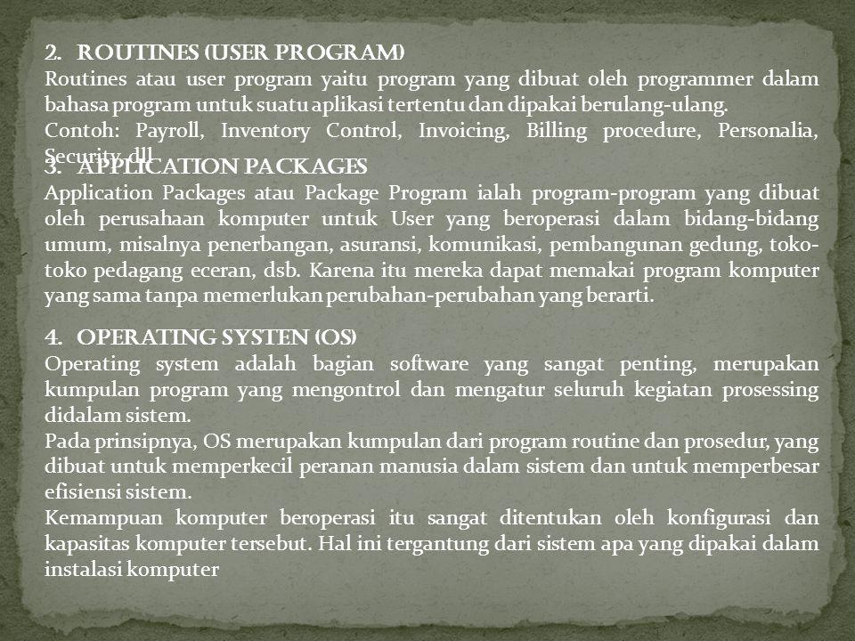 Routines (User Program)