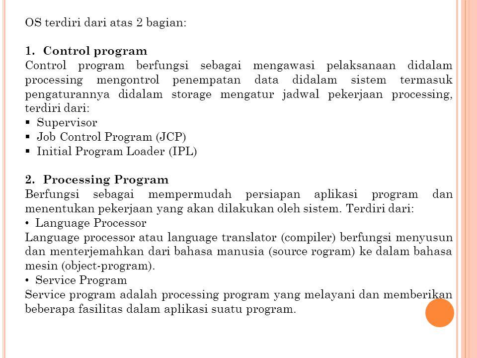 OS terdiri dari atas 2 bagian: