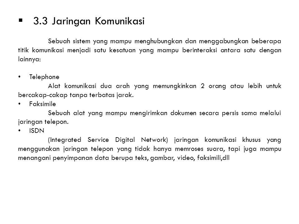 3.3 Jaringan Komunikasi