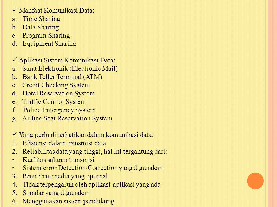 Manfaat Komunikasi Data: