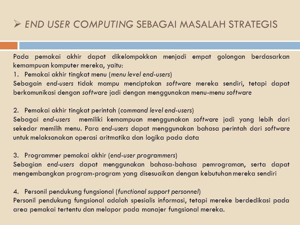 END USER COMPUTING SEBAGAI MASALAH STRATEGIS