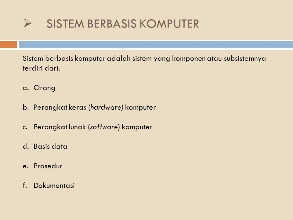 SISTEM BERBASIS KOMPUTER