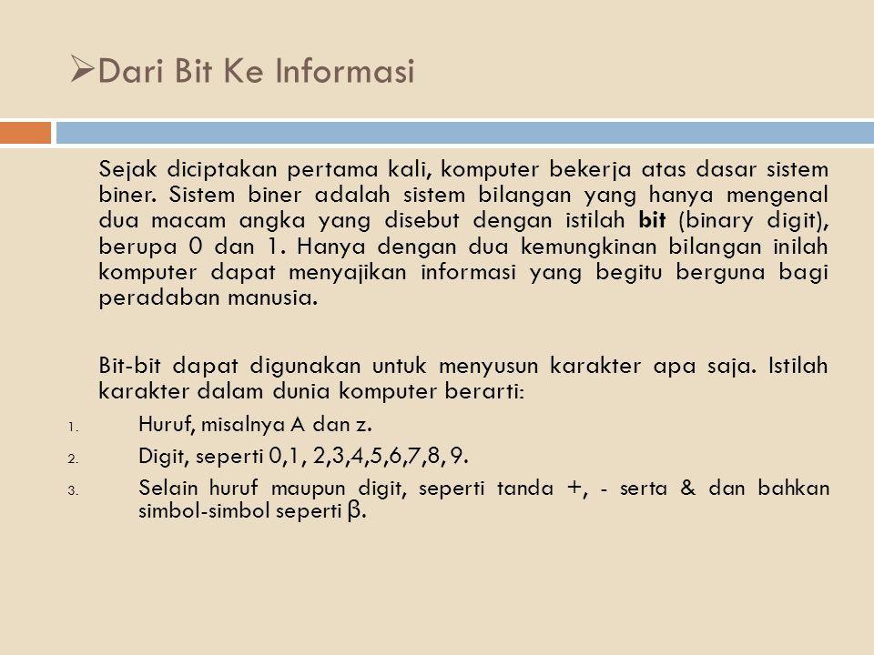 Dari Bit Ke Informasi