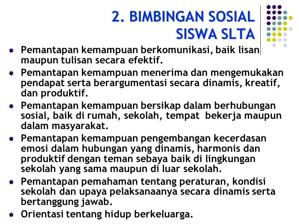 2. BIMBINGAN SOSIAL SISWA SLTA