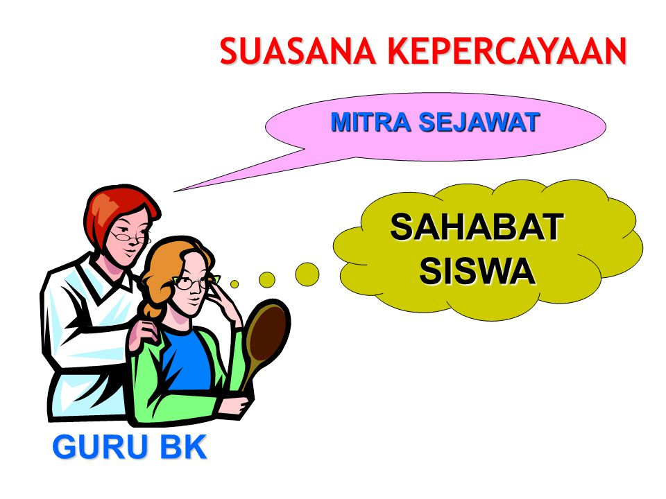 SUASANA KEPERCAYAAN MITRA SEJAWAT SAHABAT SISWA GURU BK