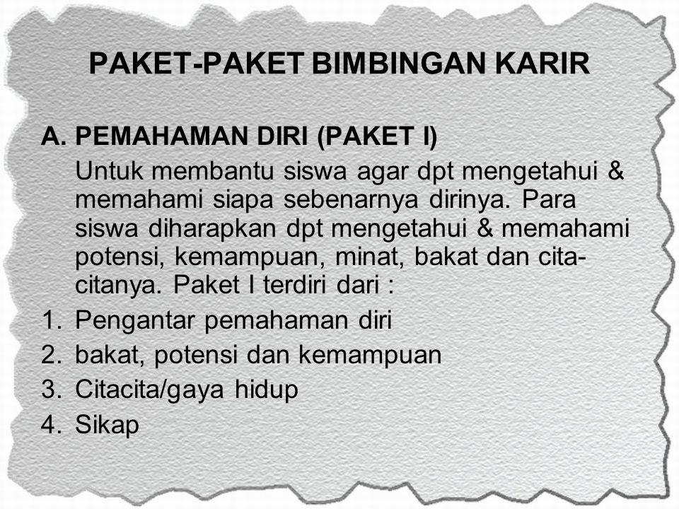 PAKET-PAKET BIMBINGAN KARIR