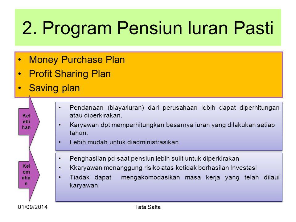 2. Program Pensiun Iuran Pasti
