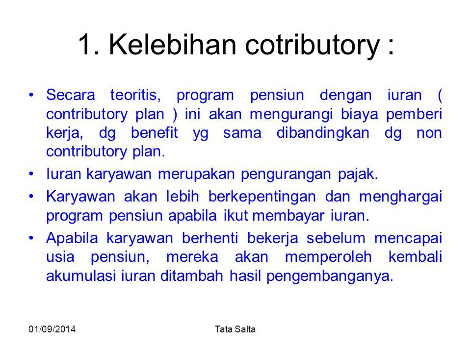 1. Kelebihan cotributory :