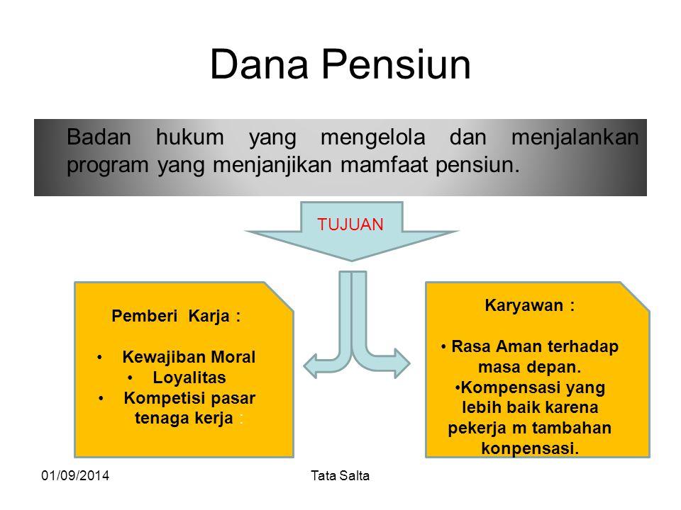 Dana Pensiun Badan hukum yang mengelola dan menjalankan program yang menjanjikan mamfaat pensiun. TUJUAN.